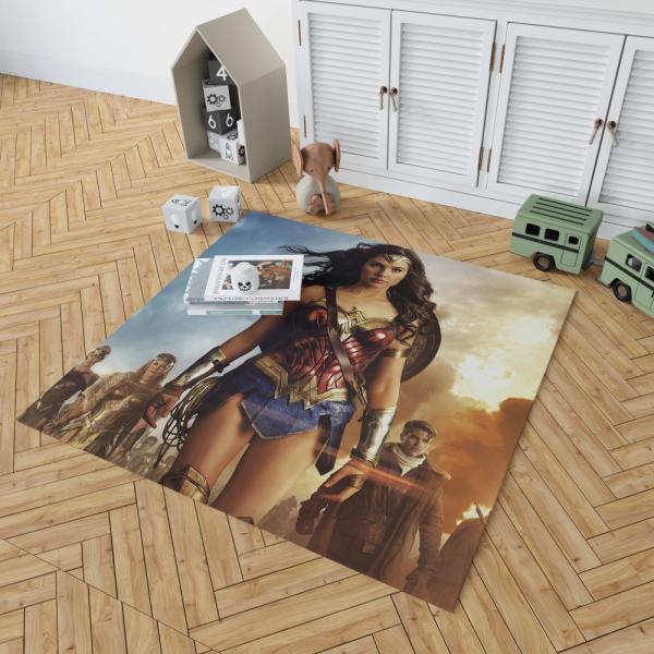 Wonder Woman Movie Gal Gadot Chris Pine Bedroom Living Room Floor Carpet Rug