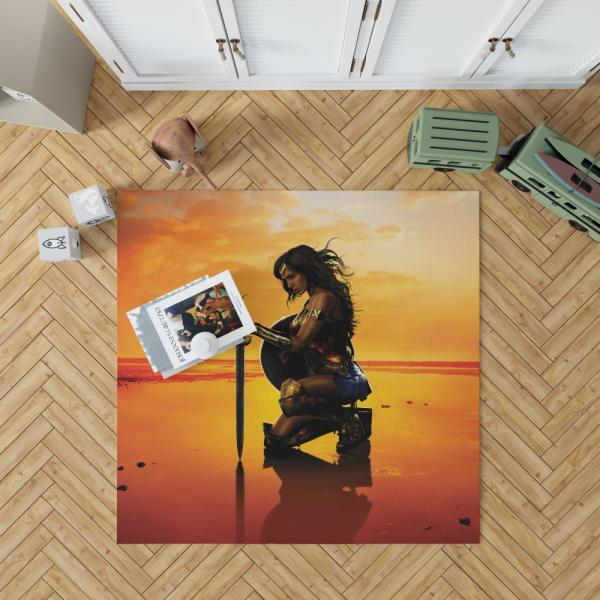 Wonder Woman Movie Gal Gadot DC Comics Bedroom Living Room Floor Carpet Rug