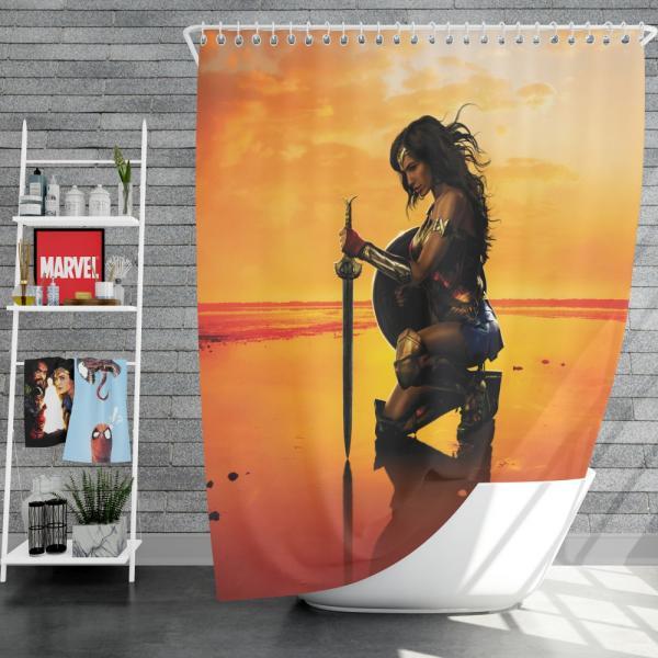 Wonder Woman Movie Gal Gadot DC Comics Shower Curtain