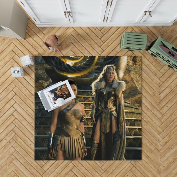 Wonder Woman Movie Gal Gadot Department of Metahuman Affairs Bedroom Living Room Floor Carpet Rug