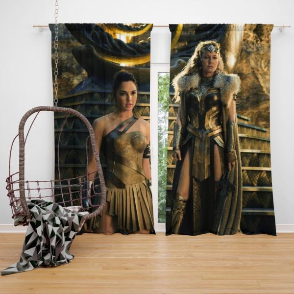 Wonder Woman Movie Gal Gadot Department of Metahuman Affairs Bedroom Window Curtain
