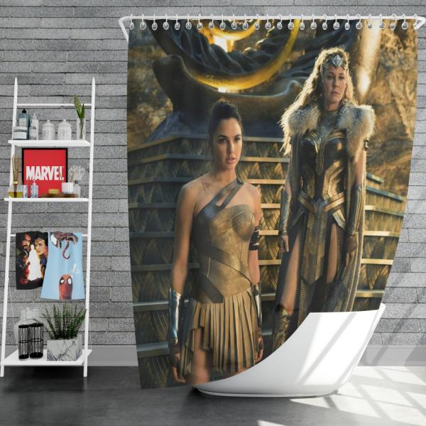 Wonder Woman Movie Gal Gadot Department of Metahuman Affairs Shower Curtain