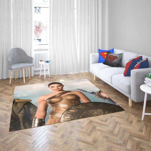 Wonder Woman Movie Gal Gadot Diana of Themyscira Bedroom Living Room Floor Carpet Rug