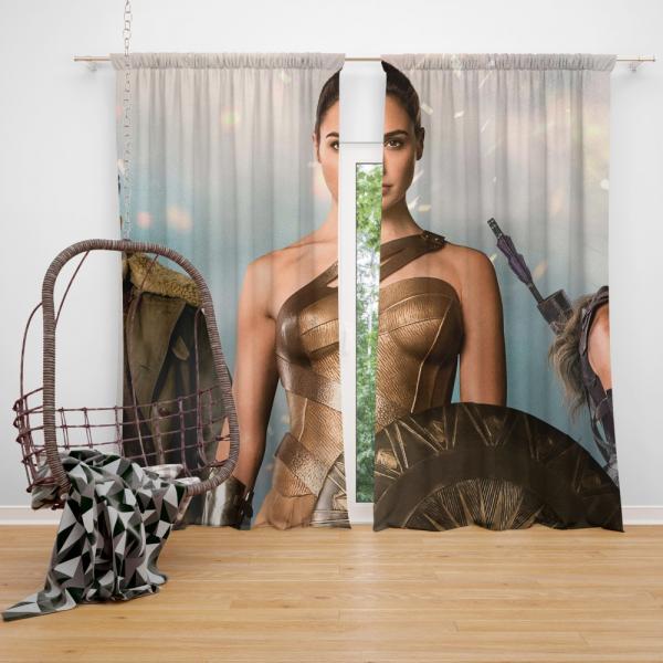 Wonder Woman Movie Gal Gadot Diana of Themyscira Bedroom Window Curtain