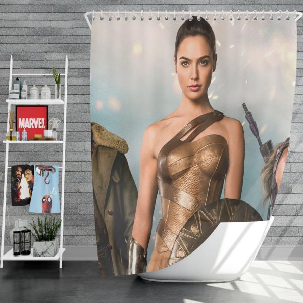 Wonder Woman Movie Gal Gadot Diana of Themyscira Shower Curtain