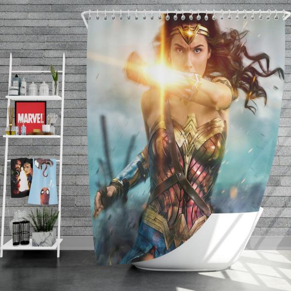 Wonder Woman Movie Gal Gadot Shower Curtain