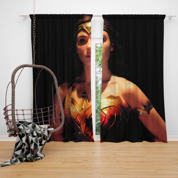 Wonder Woman Movie Justice League 2017 Gal Gadot Bedroom Window Curtain