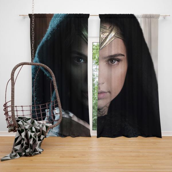 Wonder Woman Movie Prince of Themyscira Gal Gadot Bedroom Window Curtain