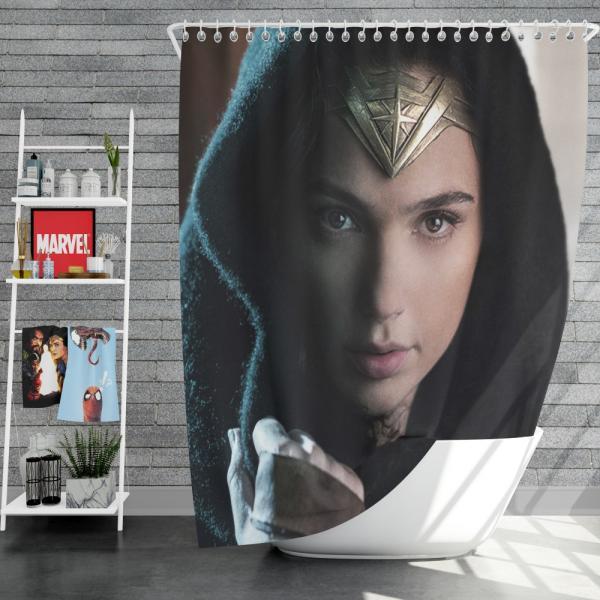 Wonder Woman Movie Prince of Themyscira Gal Gadot Shower Curtain