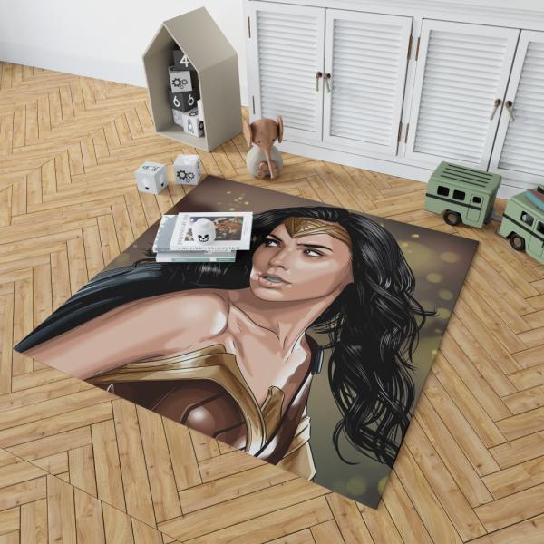 Wonder Woman Movie Themyscira DC Universe Bedroom Living Room Floor Carpet Rug