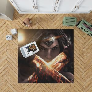 Wonder Woman in Batman v Superman Movie Bedroom Living Room Floor Carpet Rug