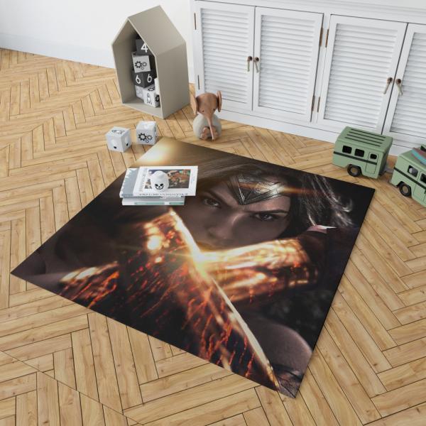 Wonder Woman in Batman v Superman Movie Bedroom Living Room Floor Carpet Rug