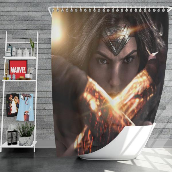 Wonder Woman in Batman v Superman Movie Shower Curtain