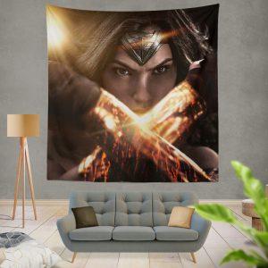 Wonder Woman in Batman v Superman Movie Wall Hanging Tapestry