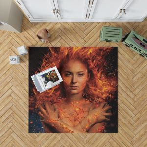 X Men Dark Phoenix Movie Sophie Turner Jean Grey Phoenix Marvel Bedroom Living Room Floor Carpet Rug
