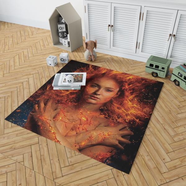 X Men Dark Phoenix Movie Sophie Turner Jean Grey Phoenix Marvel Bedroom Living Room Floor Carpet Rug
