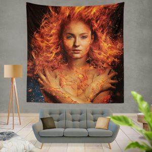X Men Dark Phoenix Movie Sophie Turner Jean Grey Phoenix Marvel Wall Hanging Tapestry
