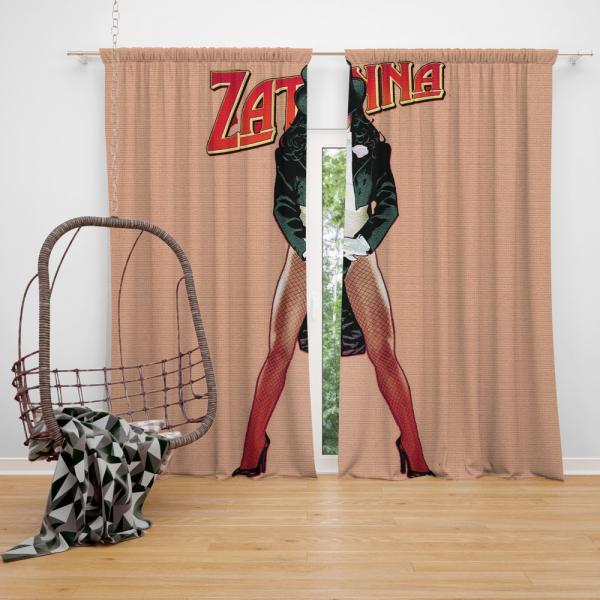 Zatanna DC Comics Justice League Bedroom Window Curtain