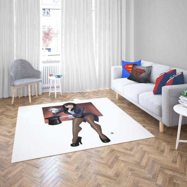 Zatanna DC Comics Magician Bedroom Living Room Floor Carpet Rug