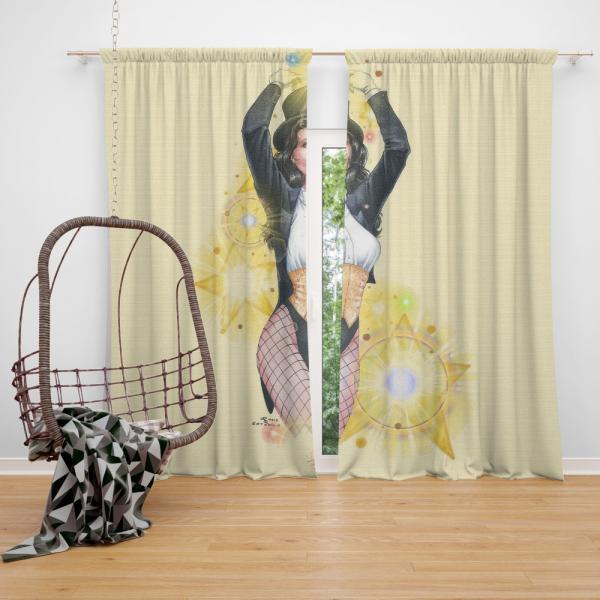 Zatanna DC Comics Seven Soldiers of Justice Bedroom Window Curtain